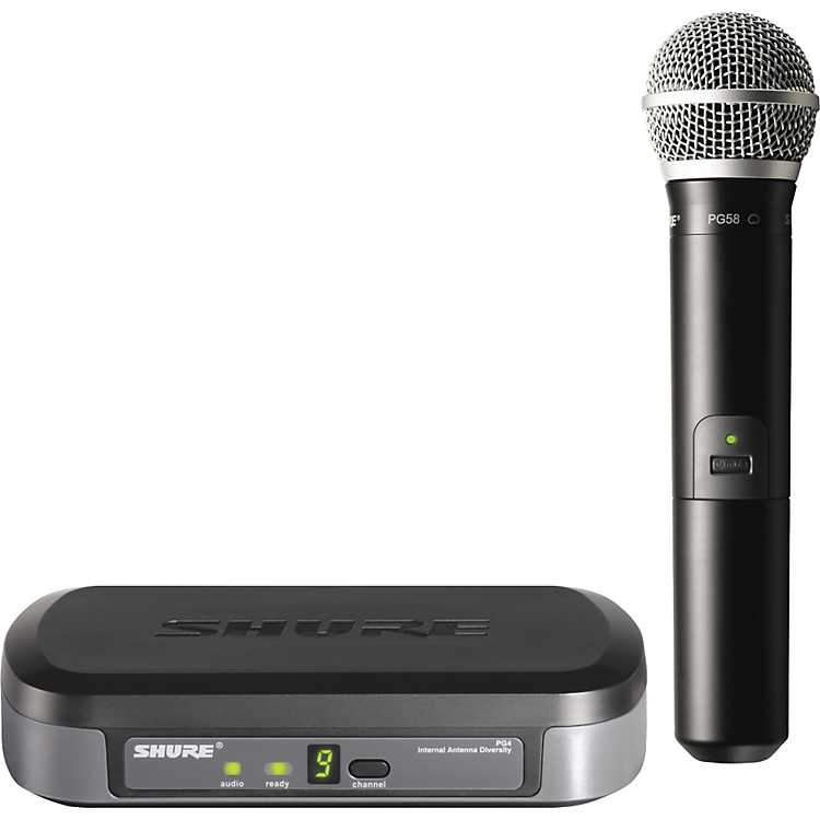 Shure PG24/PG58 Performance Gear Wireless Handheld Microphone System CH K7
