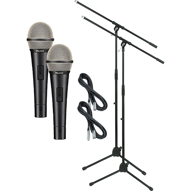Electro-VoicePL24S with Cable and Stand 2 Pack
