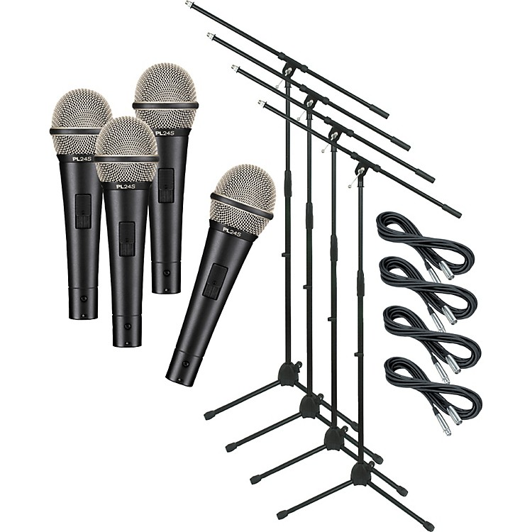 Electro-VoicePL24S with Cable and Stand 4 Pack