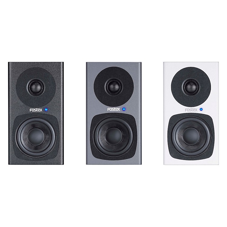 Fostex PM0.3 3 Inch Studio Monitors (Pair) White