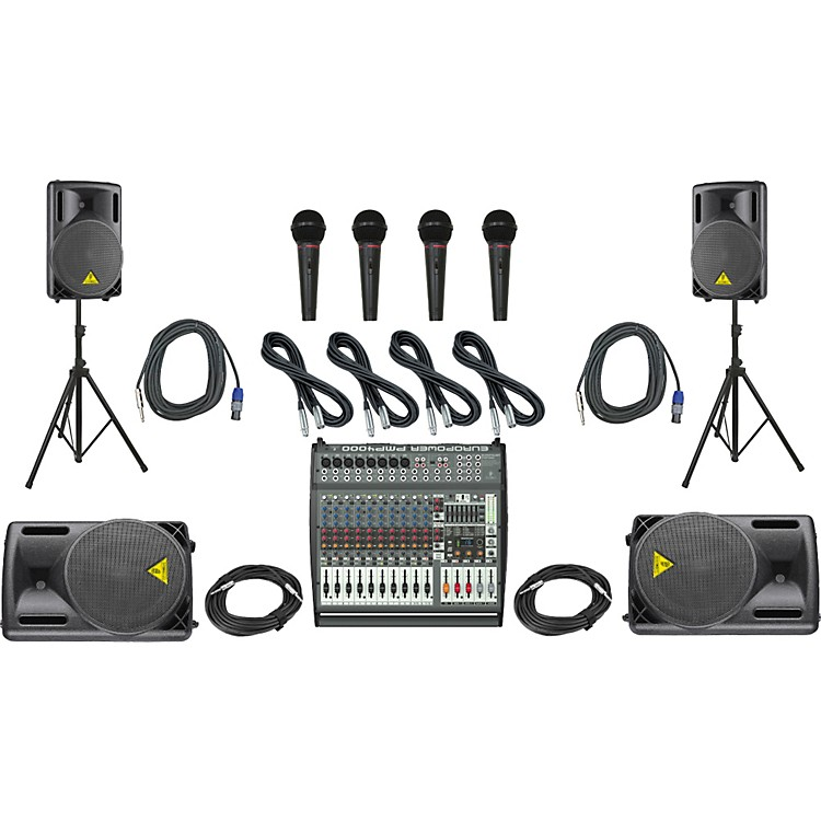 Behringer PMP4000/B212XL Mains & Monitors PA Package
