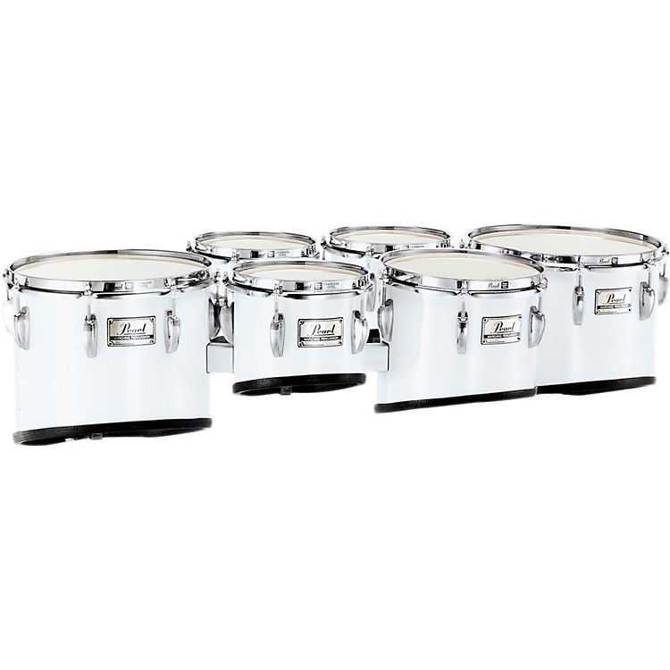 Pearl PMT-668023 Championship Maple Marching Sextet Tom Set 6, 6, 8, 10, 12, 13 #26 Brushed Silver