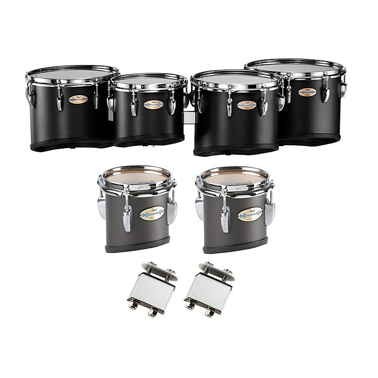 Pearl PMTC-668023 Championship Carbonply Marching Quint Tom Set #301 Carbon Fiber Matte 6 X 8