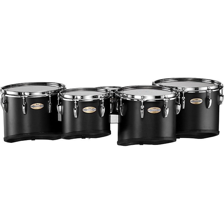 Pearl PMTC-68023 Championship Carbonply Marching Quint Tom Set #301 Carbon Fiber Matte 6 X 8
