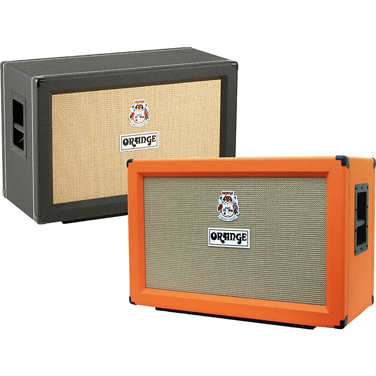 Orange Amplifiers PPC Series PPC212-C 120W 2x12 Closed Back Guitar Speaker Cabinet Black Straight