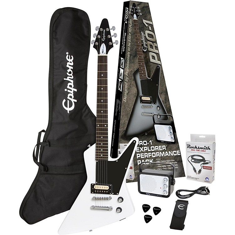 EpiphonePRO-1 Explorer Electric Guitar PackAlpine White