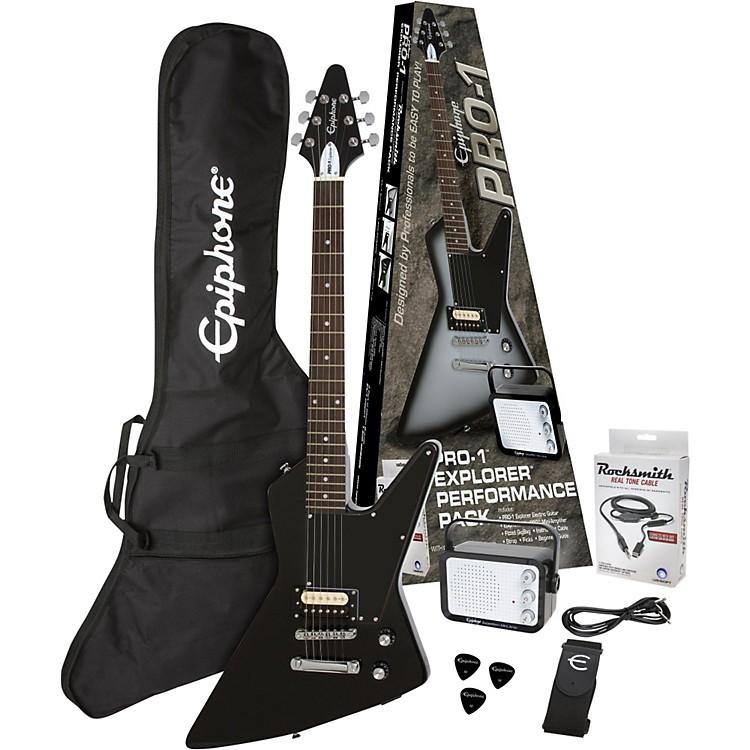 EpiphonePRO-1 Explorer Electric Guitar PackEbony