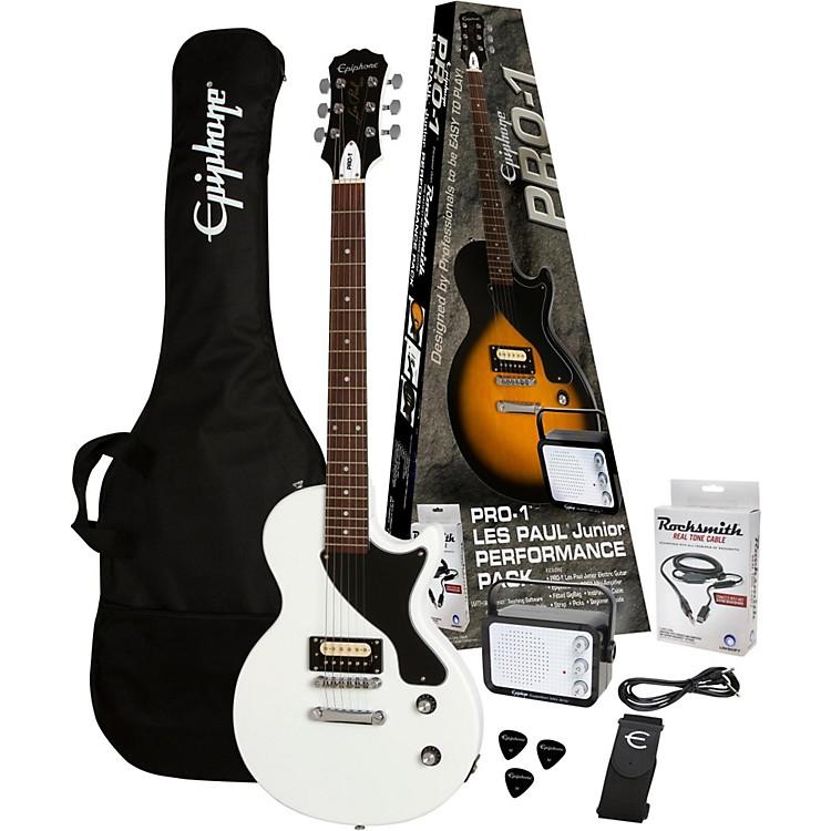 EpiphonePRO-1 Les Paul Jr. Electric Guitar PackAlpine White