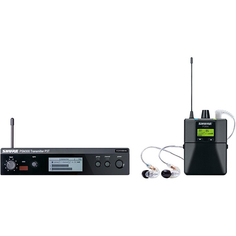Shure PSM 300 Wireless Personal Monitoring System With SE215-CL Earphones Band J13 Clear