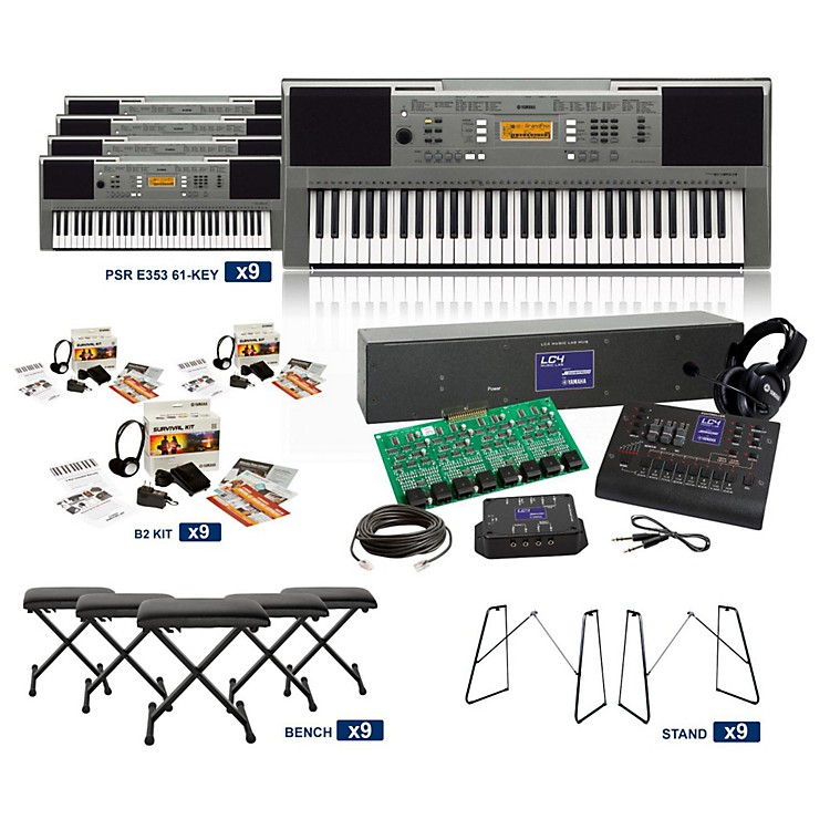 YamahaPSR-E353 61-Key LC4 Keyboard Lab