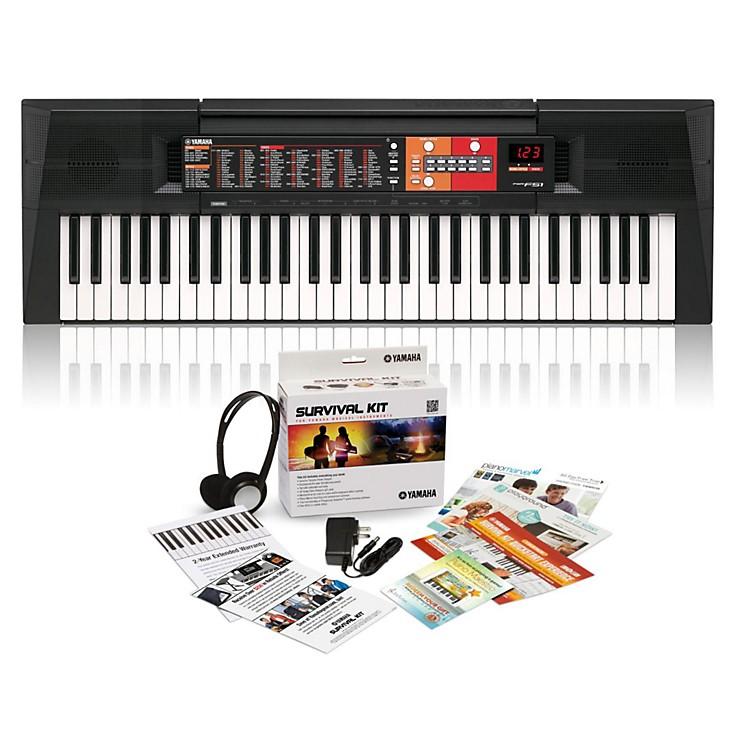 yamaha psr f51 61 key portable keyboard with survival kit