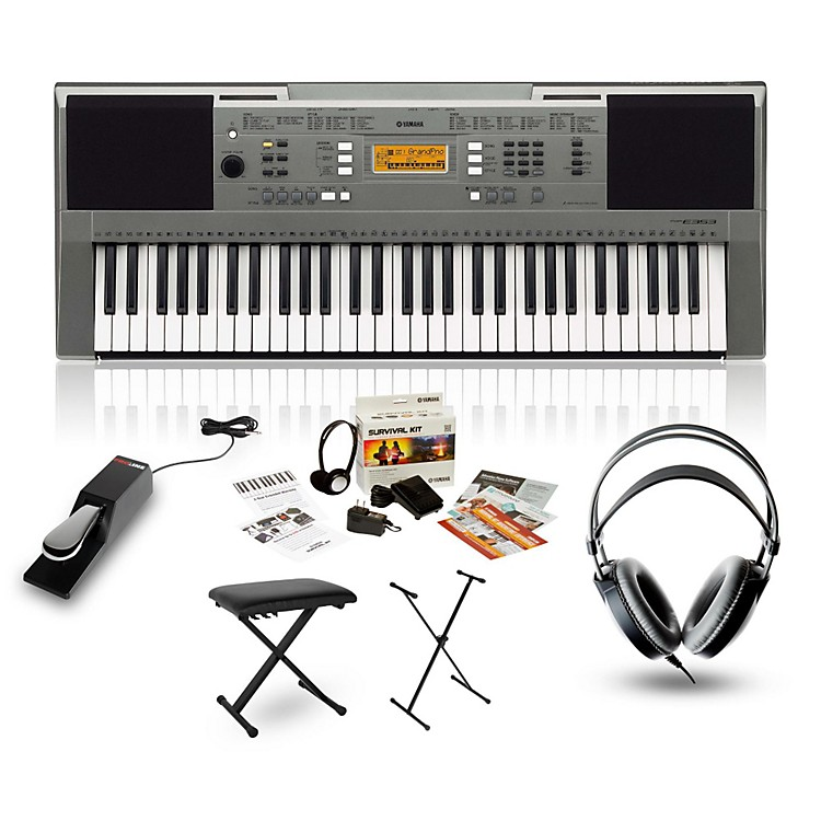 YamahaPSRE353 with Headphones, Bench, Stand and Sustain Pedal