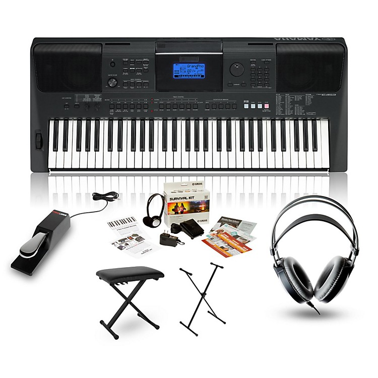 YamahaPSRE453 with Headphones, Bench, Stand & Sustain Pedal