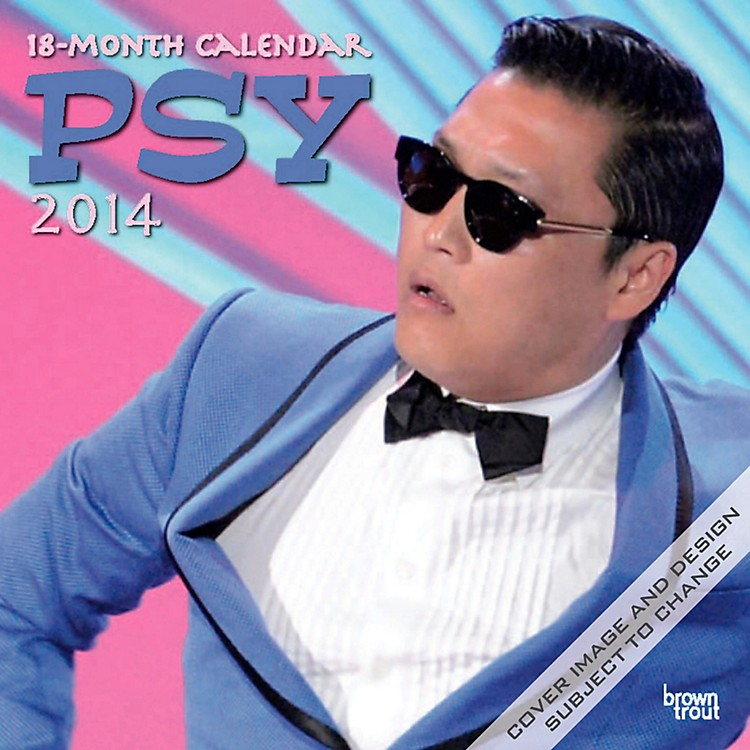 Browntrout Publishing PSY: Official Gangnam Style 2014 Calendar Square 12x12