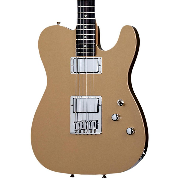 Schecter Guitar Research PT Metallic Gold with Rosewood Fretboard Gold