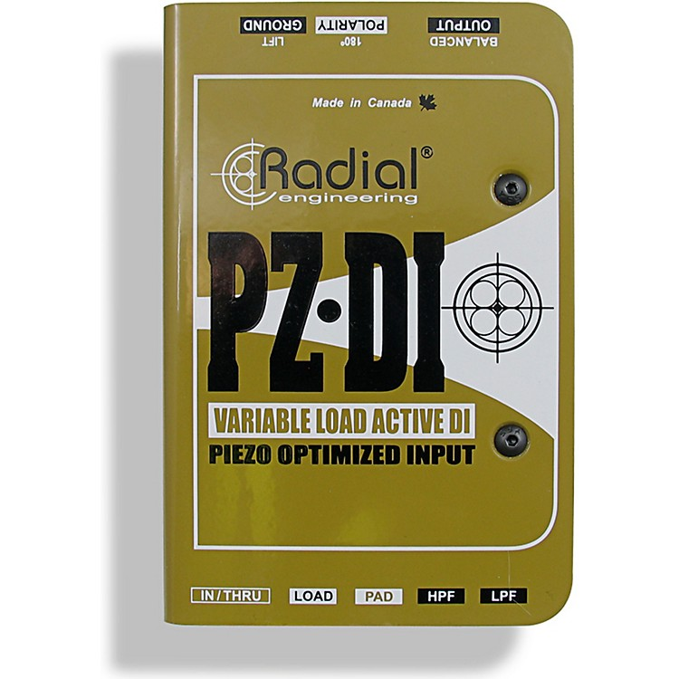 Radial Engineering PZ-DI Select Acoustic/Orchestral Instrument Active Direct Box