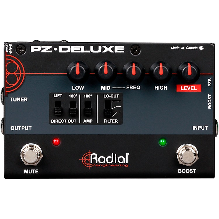 Radial EngineeringPZ-Deluxe Acoustic Preamp / Direct Box Guitar Pedal