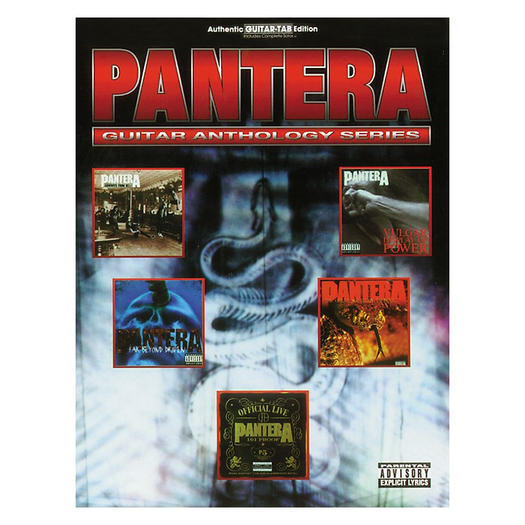 Hal Leonard Pantera Anthology Guitar Tab Songbook
