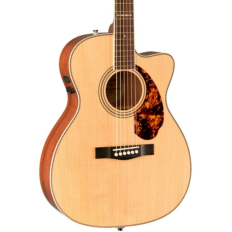 FenderParamount Series Limited Edition PM-3 Mahogany Cutaway Triple-0 Acoustic-Electric GuitarNatural