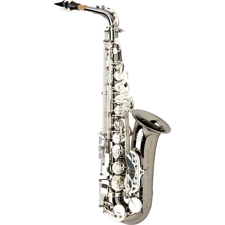 AlloraParis Series Professional Alto SaxophoneAAAS-805 - Black Nickel Body - Silver Plated Keys