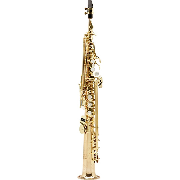 AlloraParis Series Professional Straight Soprano Saxophone with 2 NecksAASS-801 - Lacquer