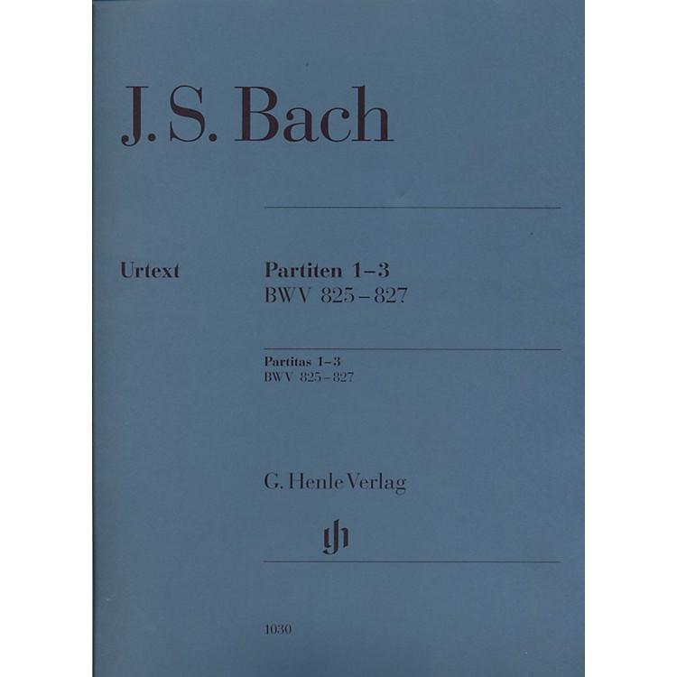 G. Henle VerlagPartitas 1-3 BWV 825-827 By Bach