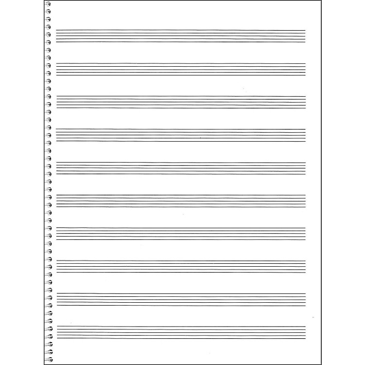 Music SalesPassantino Spiral Book #74 64 Pages, 10 Stave, 9 X 12