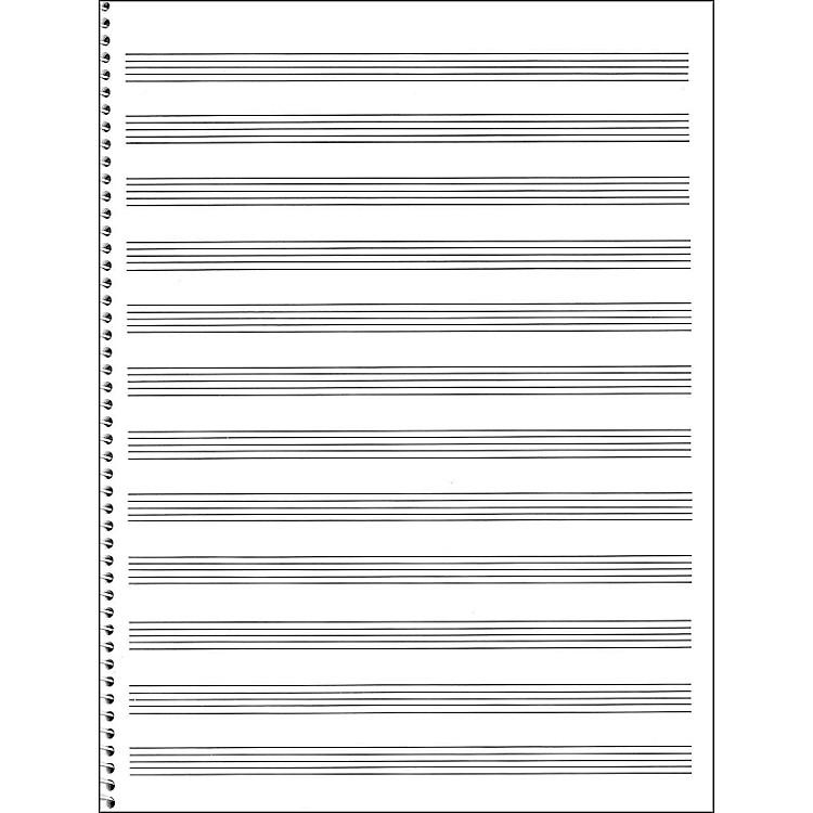Music SalesPassantino Spiral Book #75 64 Pages, 12 Stave, 9 X 12