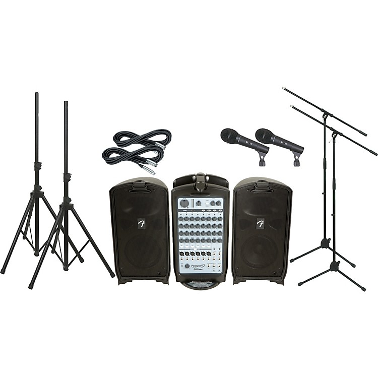 FenderPassport 500 Pro PA Package with 2 Mics