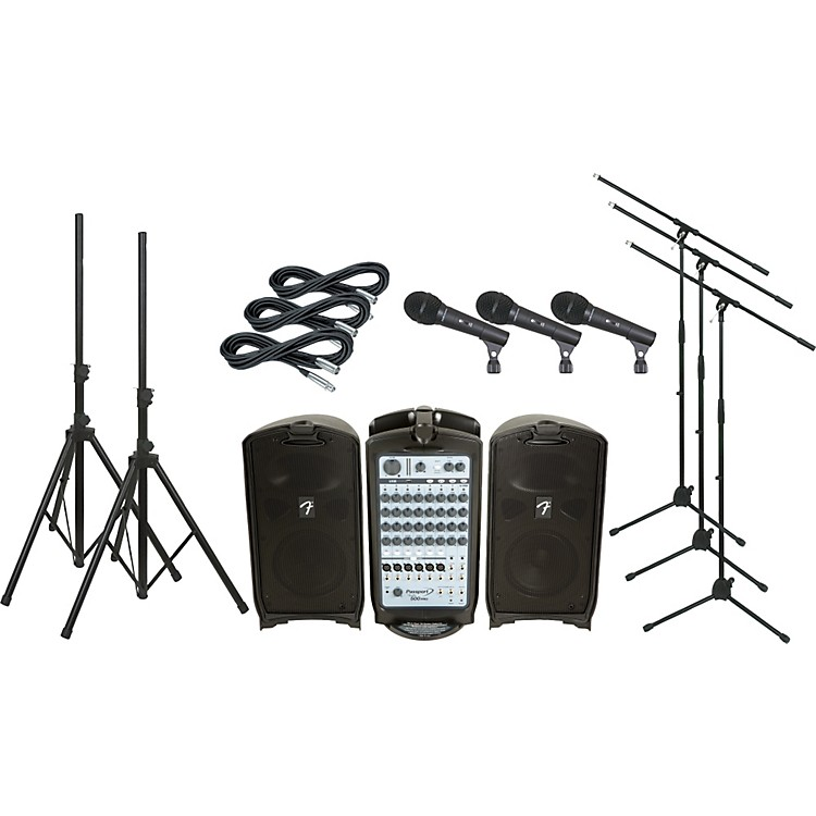 Fender Passport 500 Pro PA Package with 3 Mics