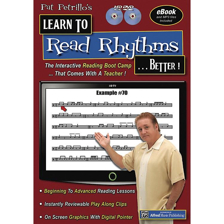 AlfredPat Petrillos Learn to Read Rhythms . . . Better!  2 DVDs