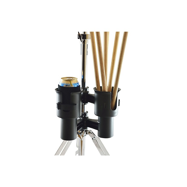 RoboCup Patented Portable Musician Drink Caddy and Drum Stick Holder Black