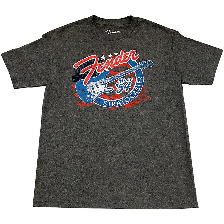 Fender Patriotic Strat T Shirt XX Large Gray