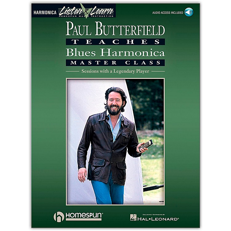 Hal Leonard Paul Butterfield Teaches Blues Harmonica Master Class Book/CD