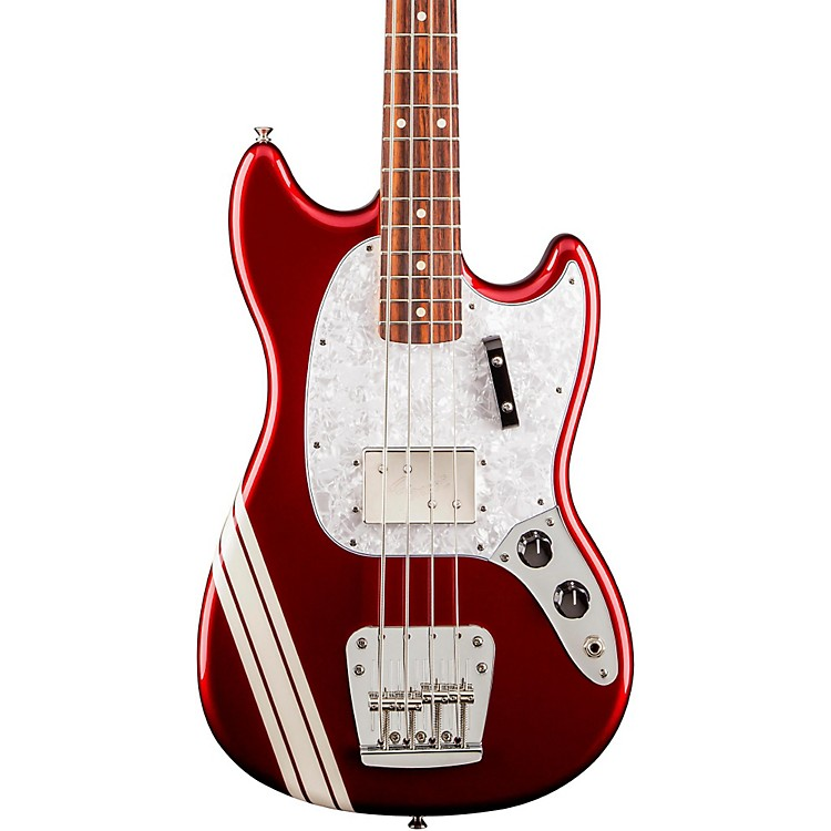 Fender Pawn Shop Mustang Electric Bass Candy Apple Red Rosewood Fingerboard