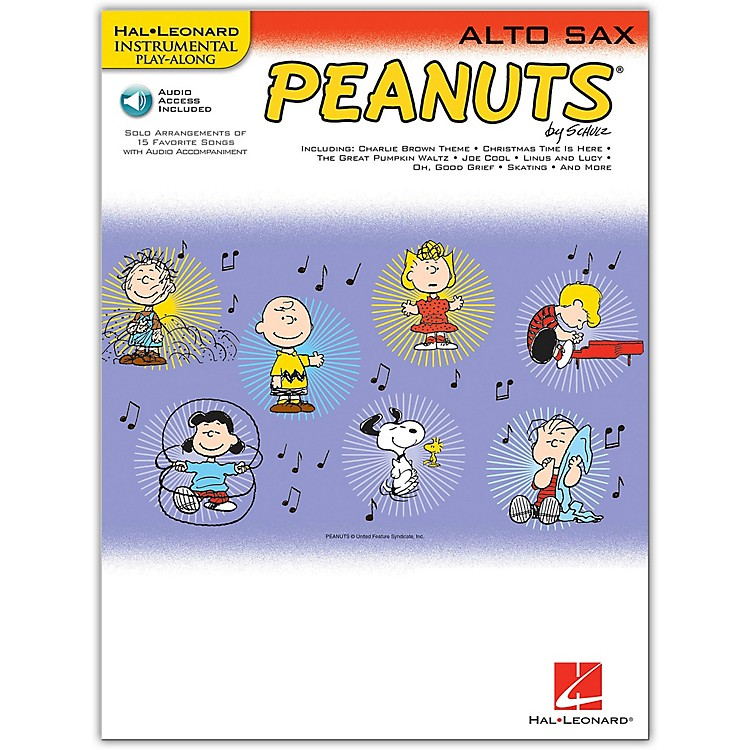 Hal Leonard Peanuts for Alto Sax - Instrumental Play-Along Book/CD