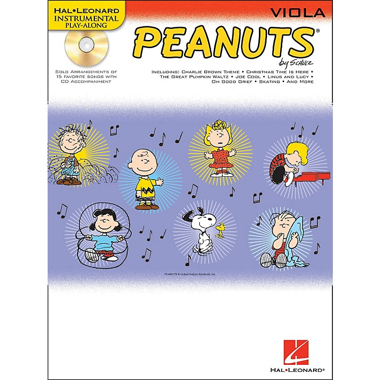 Hal Leonard Peanuts for Viola - Instrumental Play-Along Book/CD