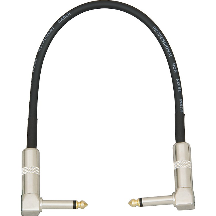 Musician's Gear Pedal Coupler Cable Angled Black 1 ft.