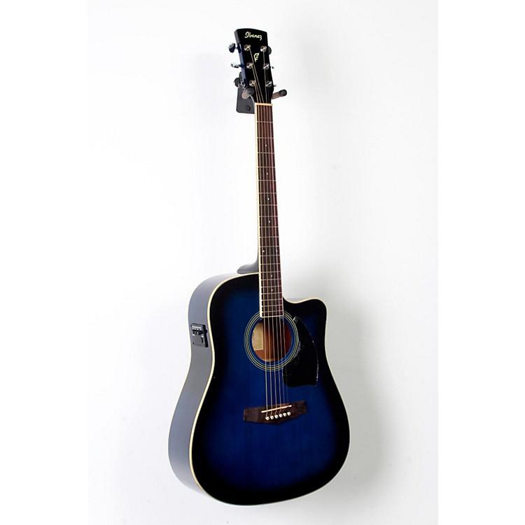 IbanezPerformance Series PF15 Cutaway Dreadnought Acoustic-Electric GuitarTransparent Blue Burst888365802305