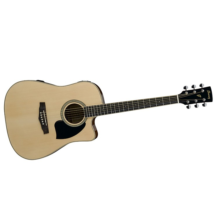 Ibanez Performance Series PF15 Cutaway Dreadnought Acoustic-Electric Guitar with Case
