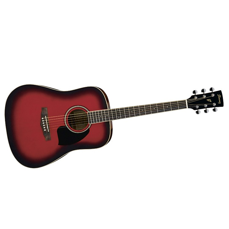 Ibanez Performance Series PF15 Dreadnought Acoustic Guitar Red Sunburst