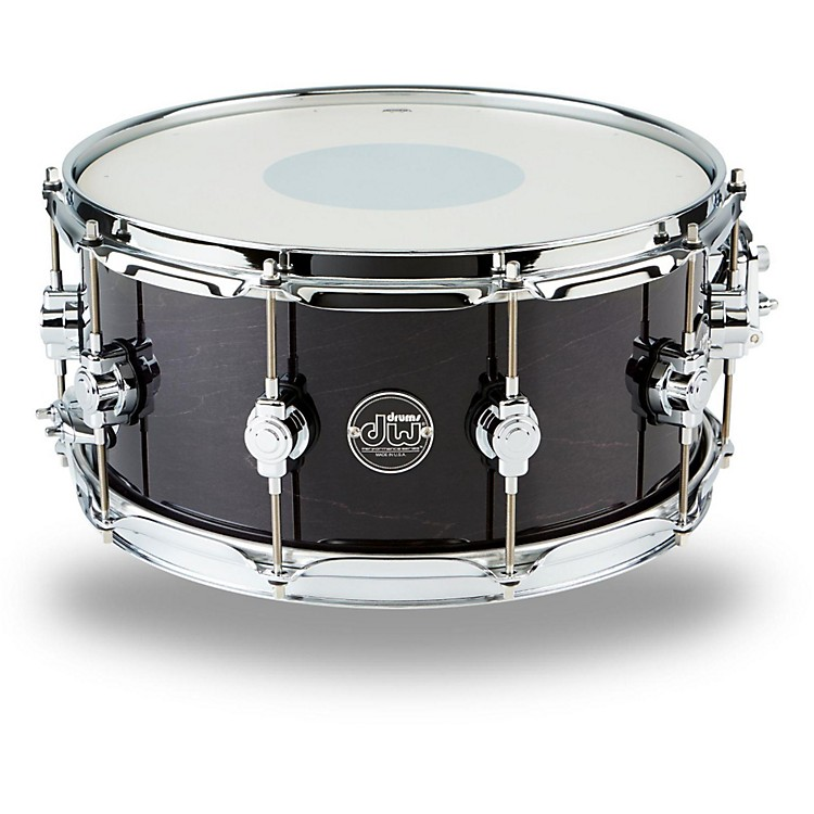 DW Performance Series Snare Drum 14 x 6.5 in. Ebony Stain Lacquer