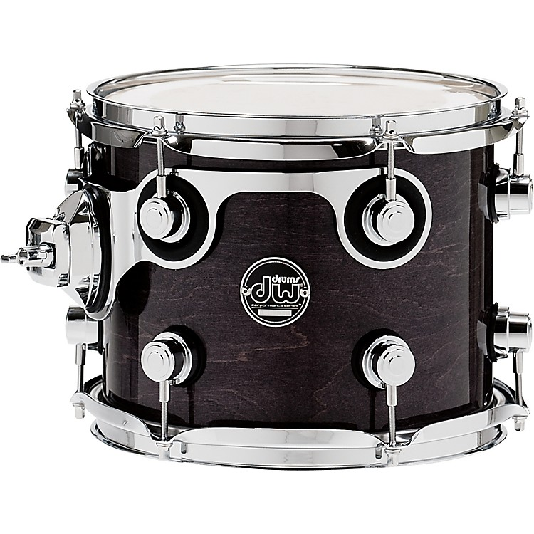 DWPerformance Series Tom10 x 8 in.Ebony Stain Lacquer