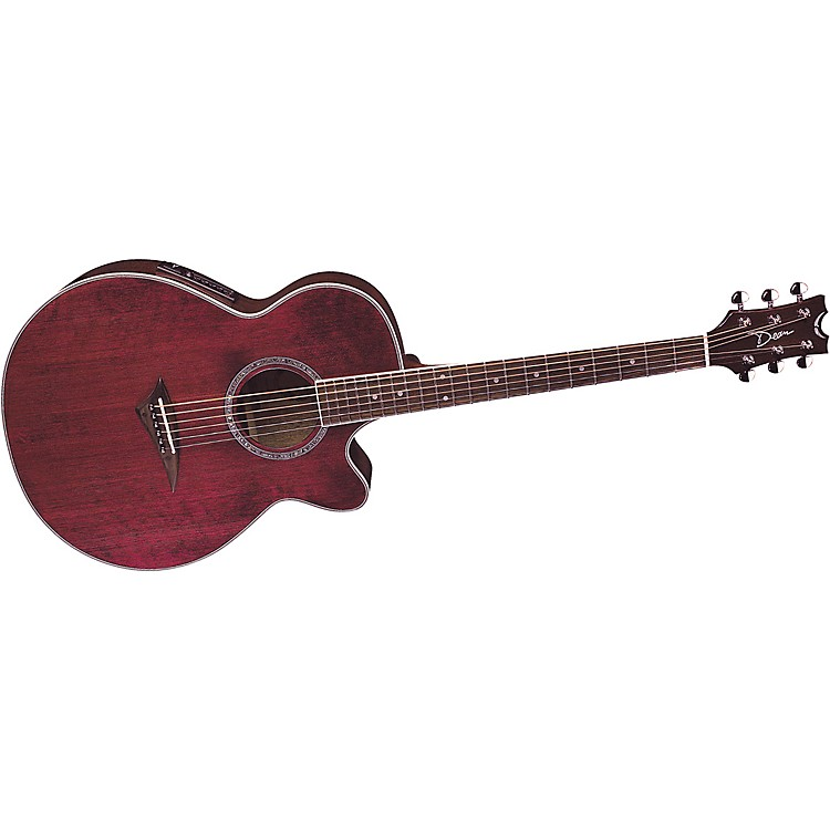 Dean Performer E Acoustic-Electric Guitar Transparent Red