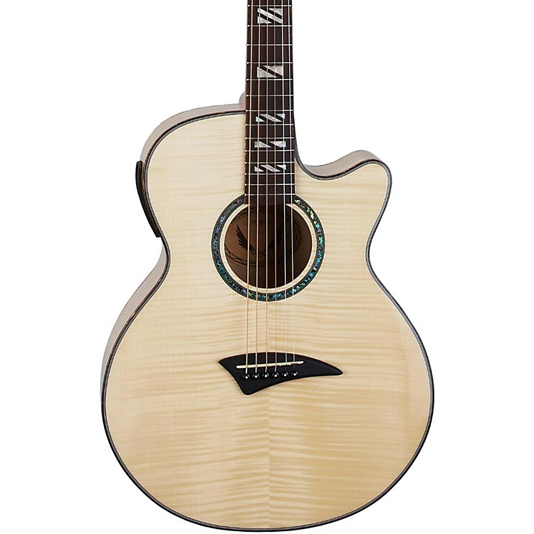 Dean Performer Flame Maple Acoustic-Electric Guitar with Aphex Natural