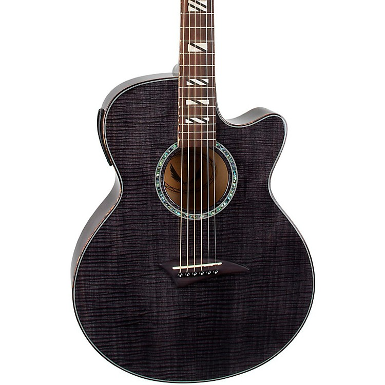 Dean Performer Flame Maple Acoustic-Electric Guitar with Aphex Transparent Black