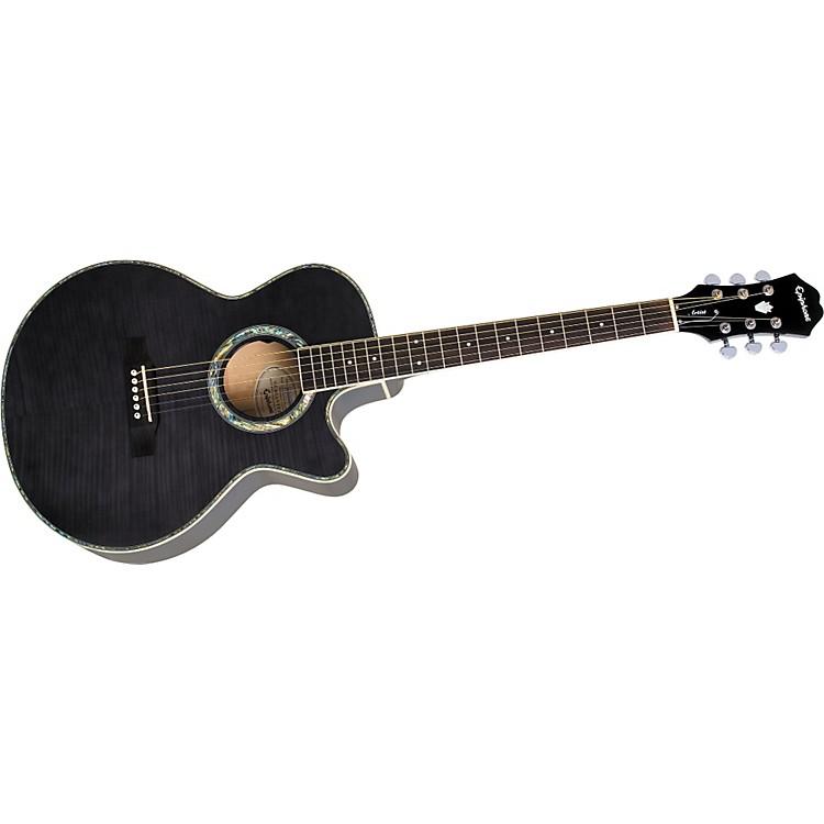 EpiphonePerformer ME Venetian Jumbo Acoustic-Electric GuitarTrans BlackGold Hardware