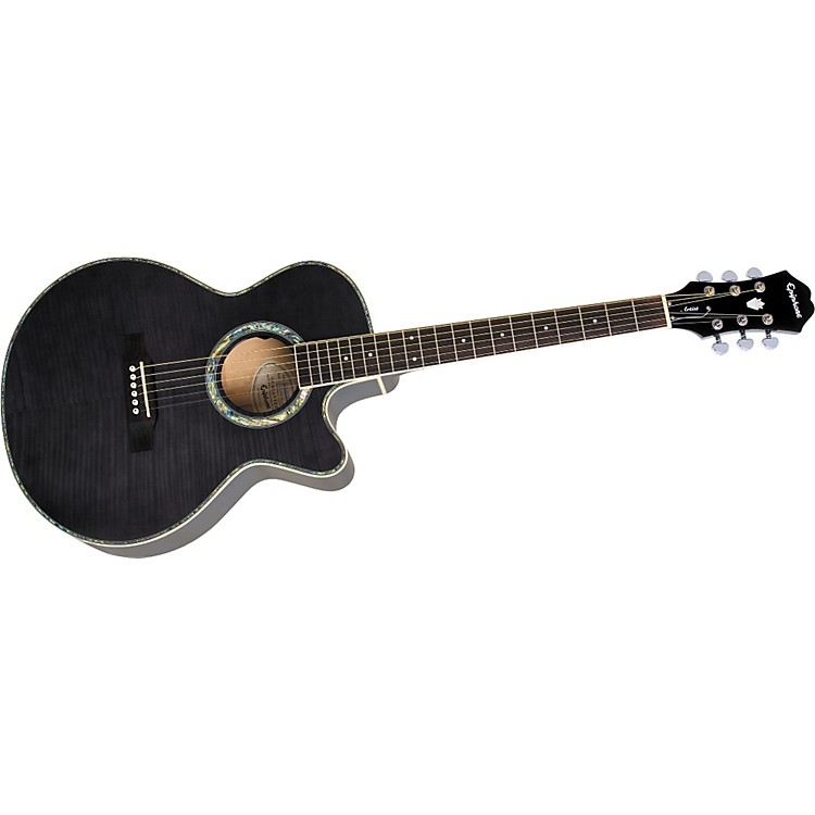 EpiphonePerformer ME Venetian Jumbo Acoustic-Electric GuitarTransparent BlackGold Hardware