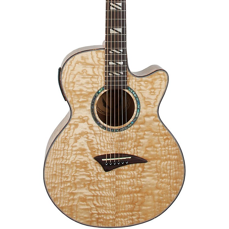 Dean Performer Quilt Ash Acoustic-Electric Guitar with Aphex Natural