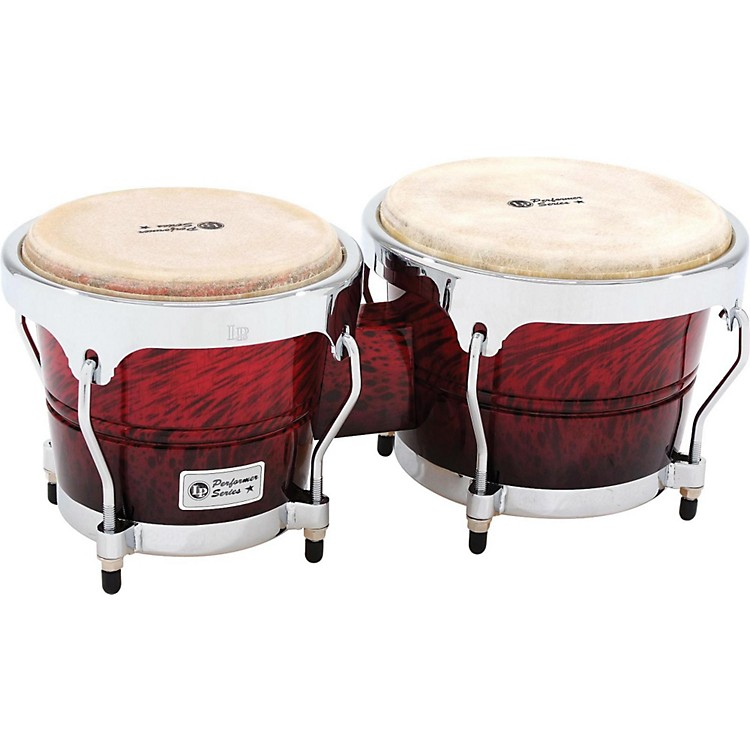 LPPerformer Series Bongos with Chrome HardwareRed Fade